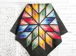 Prismatic Star Quilt Pattern