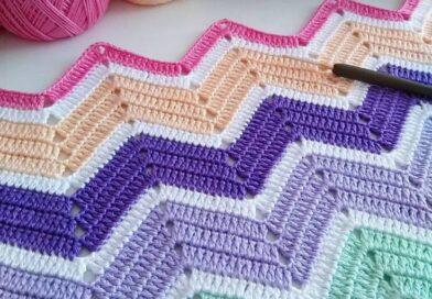 Zali Zig-Zag Crochet Chevron Blanket