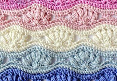 Crochet a Ripple Puff Stitch Pattern