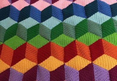 Crochet Rhombus Blanket