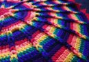 Round Jacob's Ladder Blanket for Babies