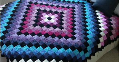 Around the World Crochet Quilt