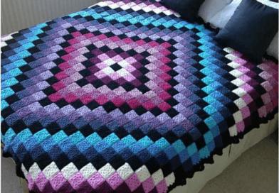 Around the World Crochet Quilt