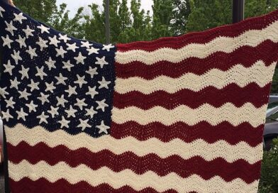 Wavy American Flag  Crochet