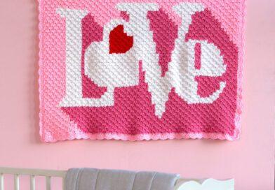 Red Heart Heart Throb Blanket