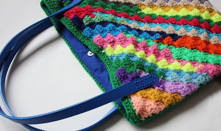 Hotchpotch C2C Crochet bag