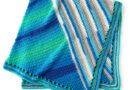 Red Heart Go Panels Go Crochet Blanket, Peacock