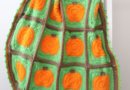 Red Heart Crochet Pumpkin Blanket