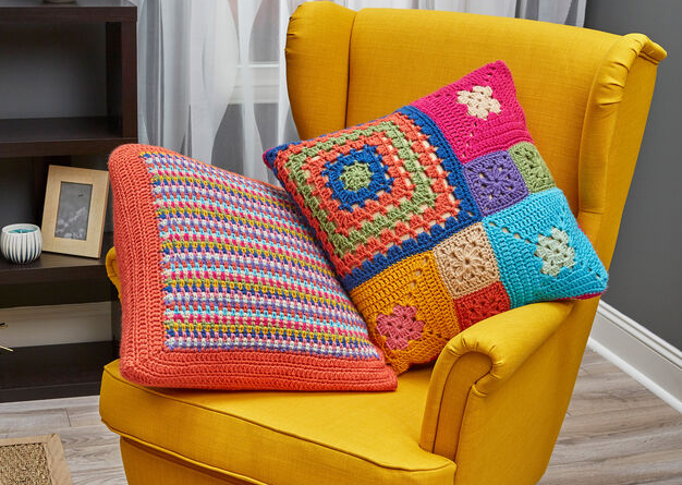 Red Heart Patched Persuasion Pillows