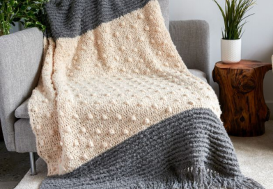 Bernat Crochet Bobble Pop Blanket