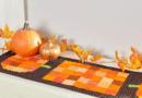 Dual Duty Halloween Table Runner – Patchwork Pumpkin