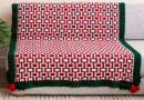 Red Heart Holly Jolly Mosaic Crochet Holiday Blanket, Version 1