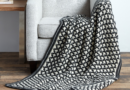 Caron Reversible Geometric Crochet Blanket